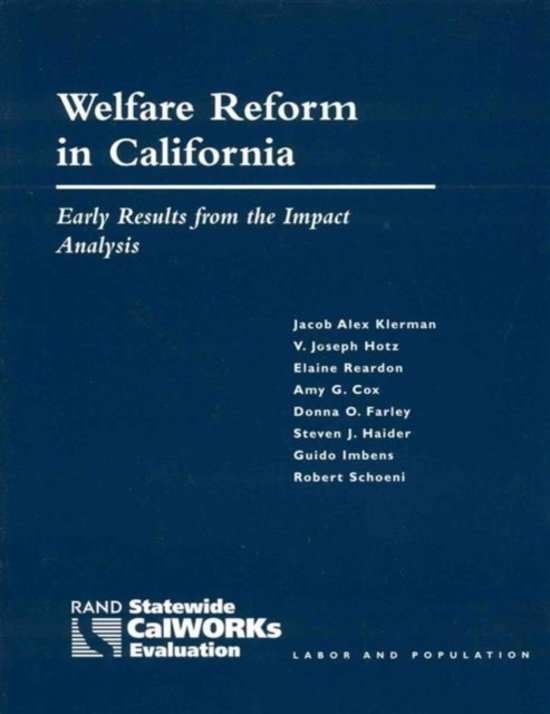 Welfare Reform in California