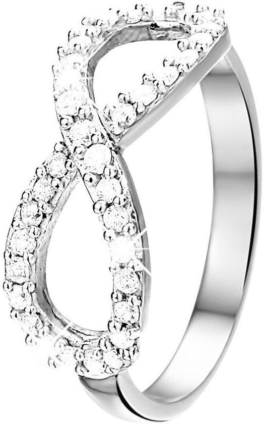 Lucardi Zilveren Ring Infinity - Met Zirkonia - Maat 60