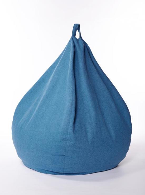 Bolletjes Voor Zitzak.Xoft Living Kids Pear Zitzak Marineblauw50x70cm