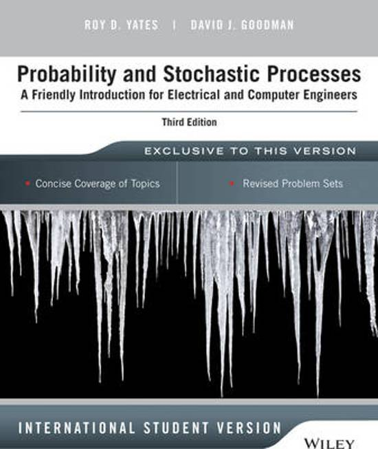 Boek cover Probability and Stochastic Processes van Roy D. Yates (Paperback)