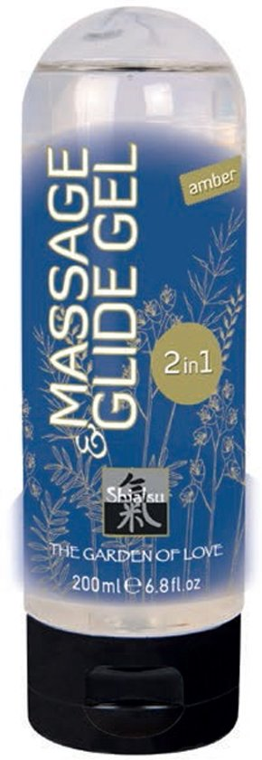 Shiatsu Massage en Glijmiddel 2 in 1 Amber