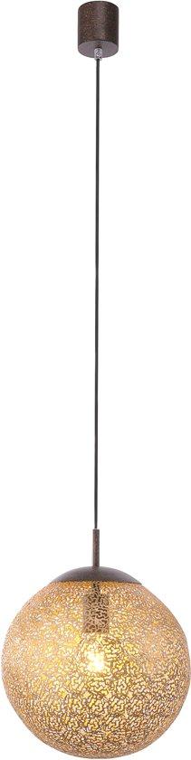 Paul Neuhaus - Hanglamp met lampenkap - 1 lichts - H 1450 mm - Roestbruin