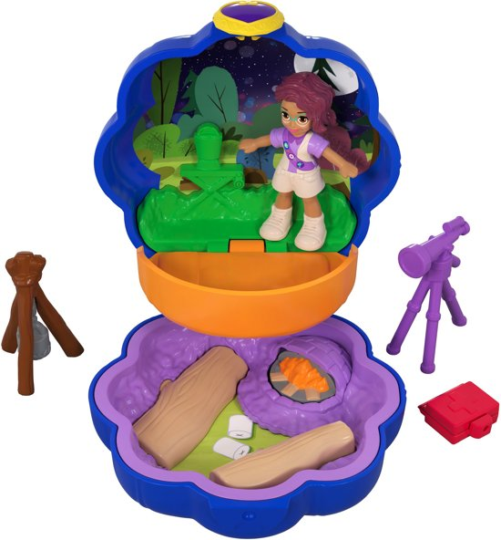 Polly Pocket Tiny Pocket Places Shani's Camping Avonturen - Speelfigurenset