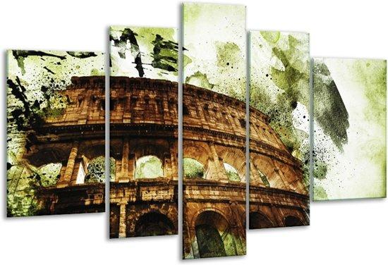 Glas schilderij Italie, Rome | Groen, Bruin | 170x100cm 5Luik | Foto print op Glas |  F007523
