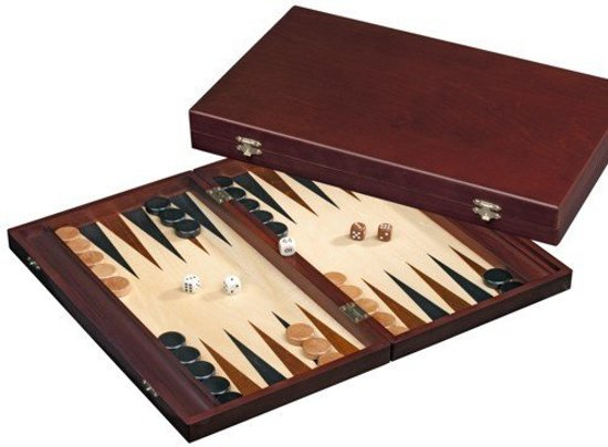 Philos Backgammon Tilos large - MDF casette - 41 x 24 x 5 cm