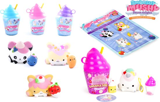 Smooshy Mushy Frozen Delight Serie 1- 1 squishy per flesje