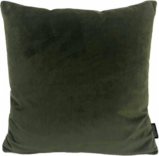 Velvet Army Green Kussenhoes | Fluweel - Polyester | 45 x 45 cm | Legergroen