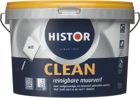Muurverf Badkamer Histor : Bol histor clean muurverf liter wit
