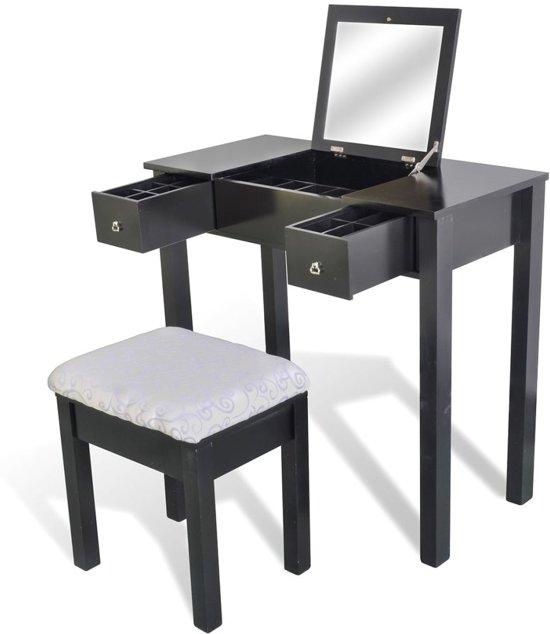 Kaptafel met stoel en spiegel zwart - Kaptafels ontwerp ...