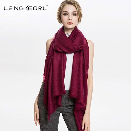 3d78387f145 bol.com | Dames Sjaal en omslagdoek van 100% wol - 70*230 cm ...
