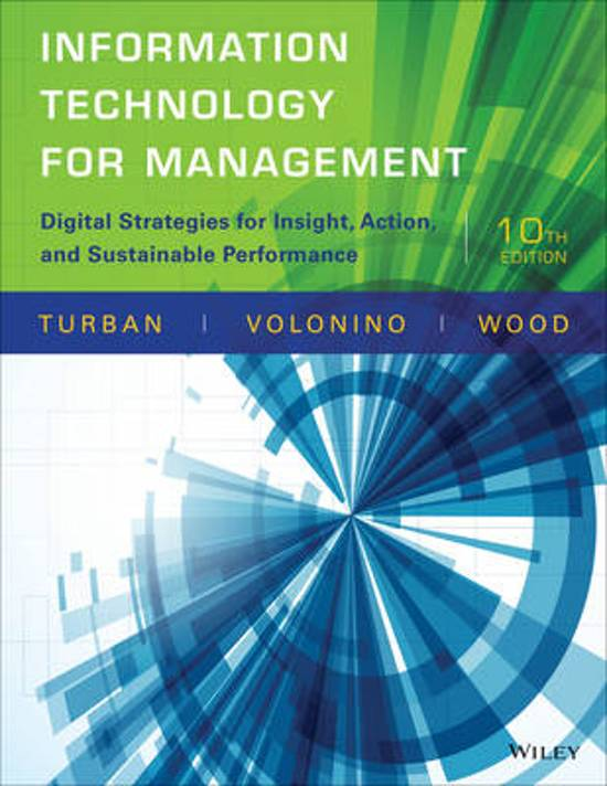 solutions for infromation technology for management efraim turban