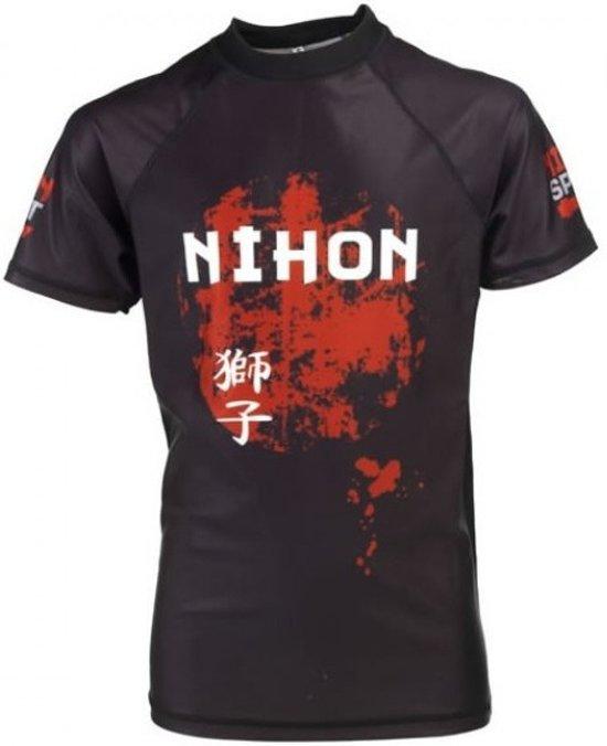Nihon Thermoshirt Rashguard Tora Heren Zwart Maat Xl