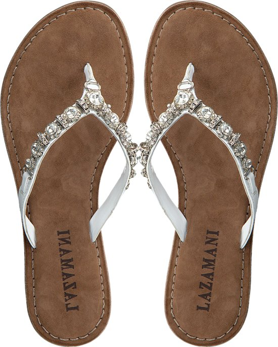 Lazamani Dames Slippers 75.341 - Wit