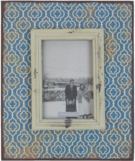 Fotolijst 23*28 cm / 10*15 cm Blauw | 2F0174 | Clayre & Eef