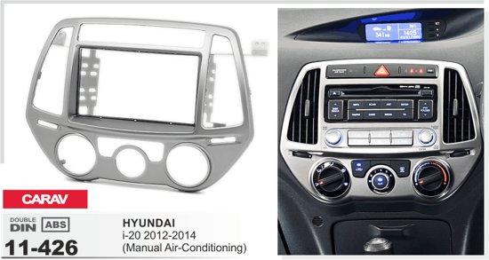 2-DIN HYUNDAI i-20 2012-2014 (Manual Air-Conditioning) inbouwpaneel Audiovolt 11-426