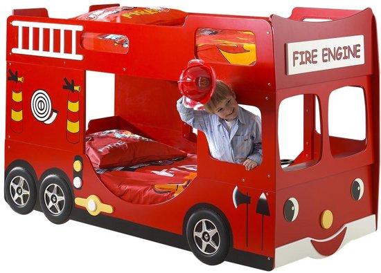 Brandweer Auto Stapelbed.Vipack Brandweer Bed Rood 97 X 227 Cm