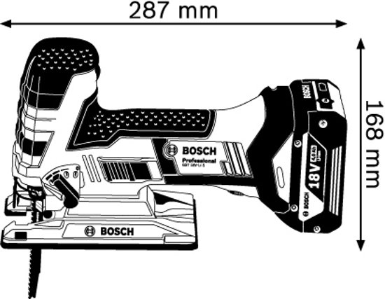 Bosch Professional GST 18 V-LI S Accu decoupeerzaag - Zonder accu en lader - Met L-BOXX