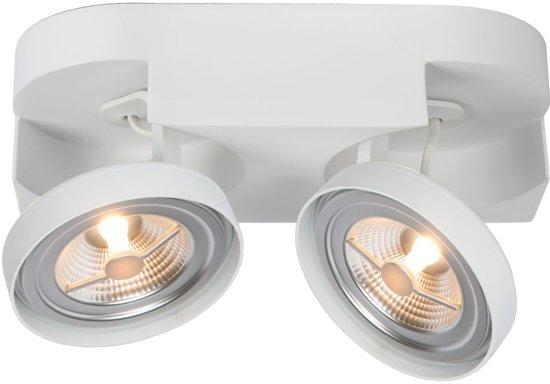 Lucide VERSUM AR111 - Plafondspot - LED Dimb. - AR111 - 2x10W 2700K - Wit