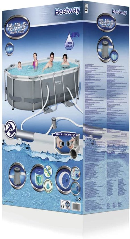 Bestway Power Steel zwembadset ovaal 56617