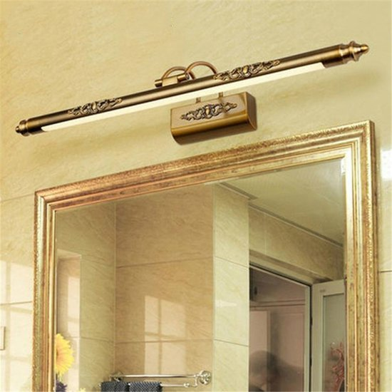Retro vochtbestendige badkamer dressing tafellamp spiegel voorzijde lamp spiegelkast licht  vermogen: 8W 50cm (wit licht)