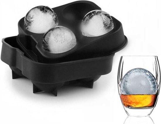 IJsblokjes vorm set, | Whiskey Ice Cubes | Vorm Ballen | Zwart