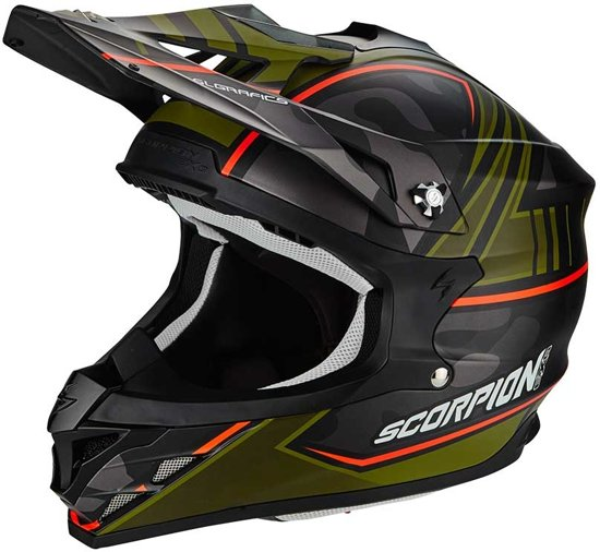 Scorpion Crosshelm VX-15 Evo Air Miramar Matt Black/Green-M