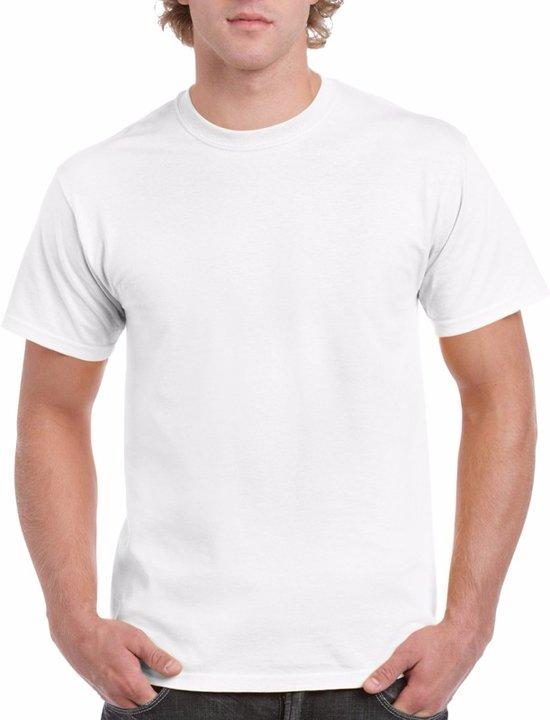 Wit katoenen shirt voor volwassenen L (40/52)