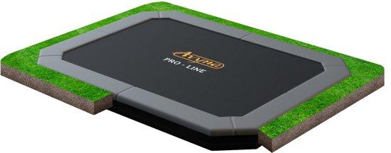 Avyna Pro-Line 238 flatlevel trampoline rechthoek 380x255cm Grijs