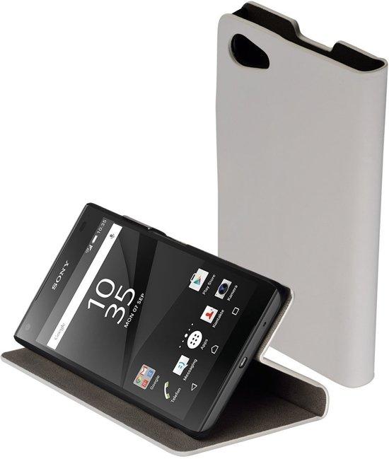 Wit slim booktype flipcover Sony Xperia Z5 hoesje