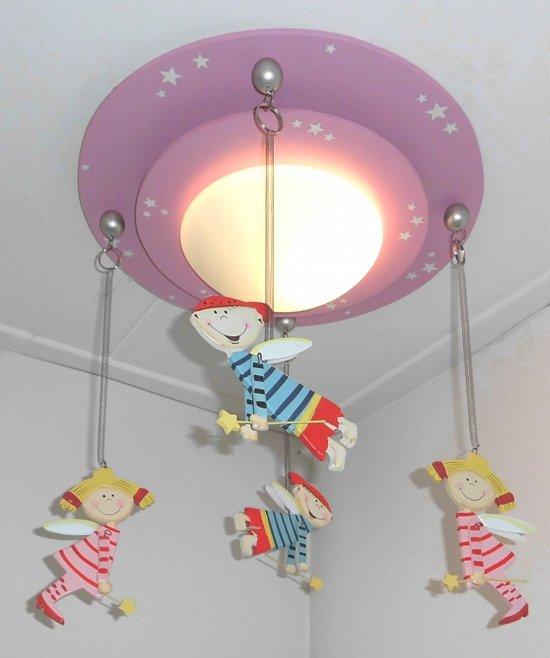 Funnylight-Plafonniere-Elfjes roze