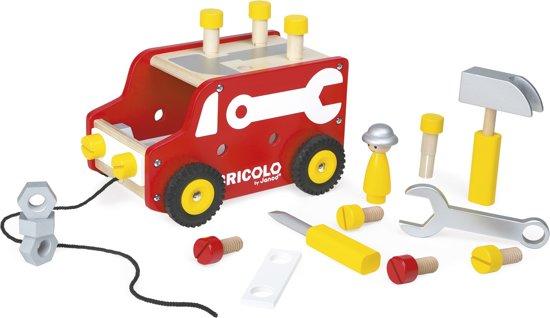 Janod Redmaster Bricolo Trekfiguur Vrachtwagen
