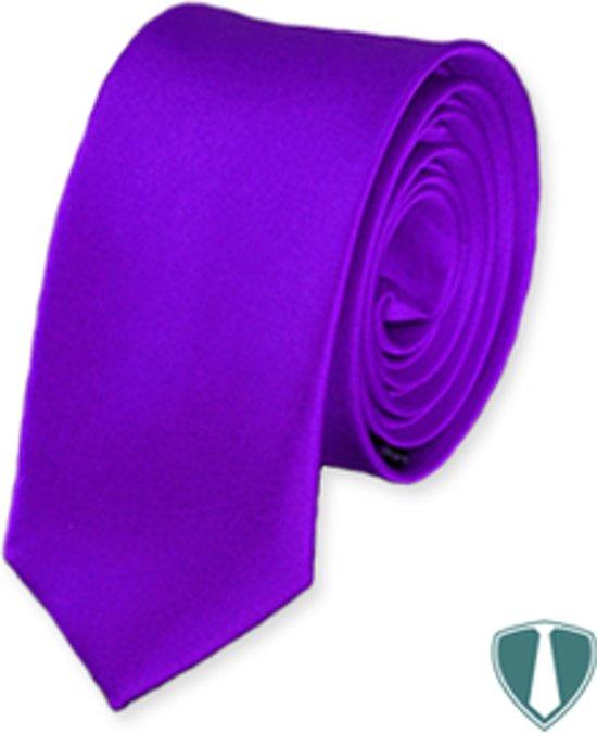 Paarse stropdas skinny