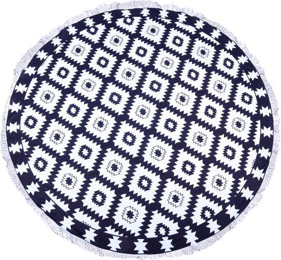 2f1db38d0b5 bol.com | Hippe Roundie IBIZA handdoek - rond - strandlaken - Zwart ...
