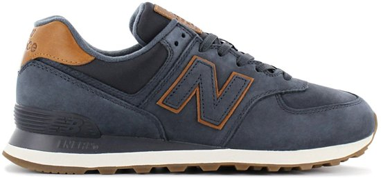 New Balance Classics 574 - Heren Sneakers Sportschoenen Schoenen Navy-Blauw  ML574NBD - Maat EU 44.5 US 10.5