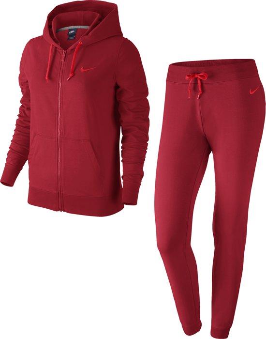 Nike Sportswear Track Suit Trainingspak Dames Maat M Rood