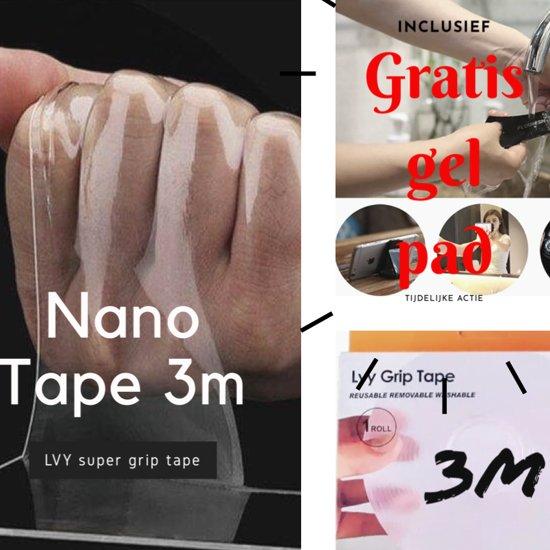 Afbeelding van Nano Tape - Hoge kwaliteit herbruikbare en Wasbare Tape – Dubbelzijdige 3 meter Tape