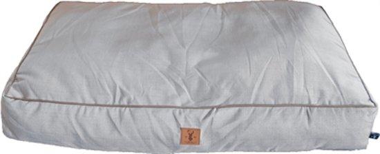 "Boony ligkussen ""Est 1941"" highland grey 70x50 cm"