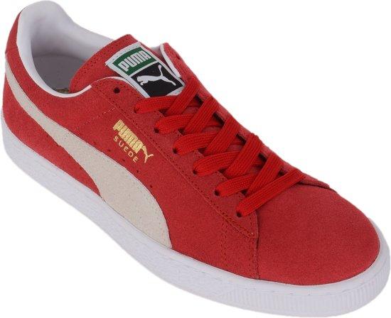 Puma Suede Classic+ Sneakers - Maat 46 - Vrouwen - rood/wit