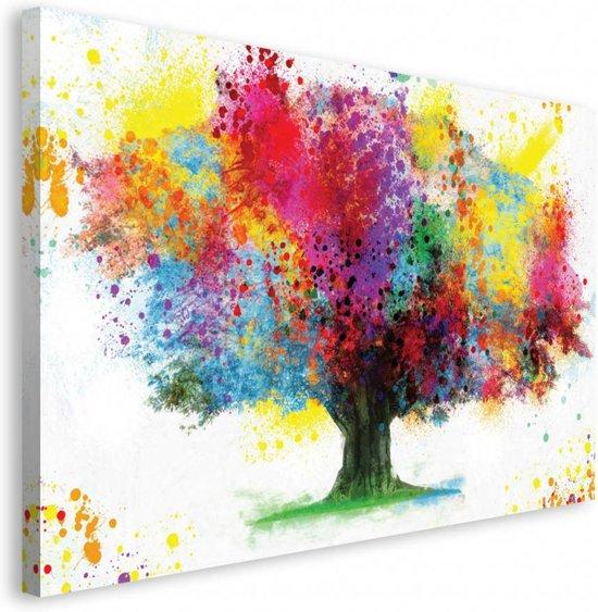 Reinders boom in kleuren schilderij 118x70cm - Deco schilderij slaapkamer kind ...