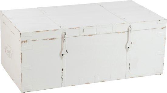 Witte Houten Dekenkist.Kisten Wit Globos Giftfinder