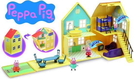 Peppa Pig - de luxe huis met 2 speelfiguren