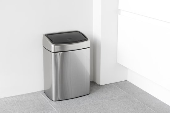 Brabantia Touch Bin Rechthoekig 10 Liter Matt Steel Fingerprint Proof