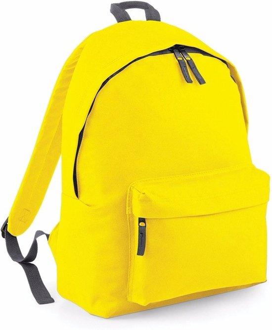 3f4ec760fc3 bol.com | Hippe rugtas met voorvak geel 18 liter - rugzak