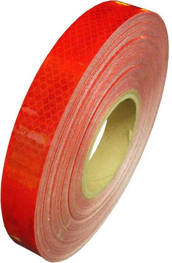 e63cf155190 Reflecterende tape rood 5 meter x 3 cm breed - fiets - aanhangwagen -paal