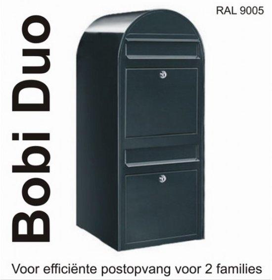 Brievenbus Bobi Duo - Zwart Structuur
