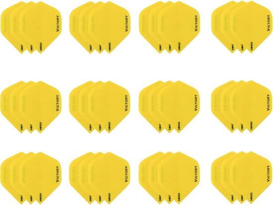 10 sets (30 stuks) Super Sterke Geel Poly XS100 - flights - dartflights