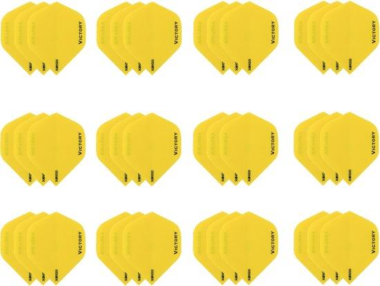 10 sets (30 stuks) Super Sterke Geel Poly XS100 - flights - dartflights