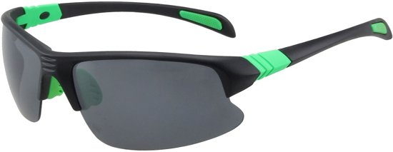 17423249260573 Sport Zonnebril - UV 400 bescherming Cat. 3 - Glazen 65 mm - Zwart en