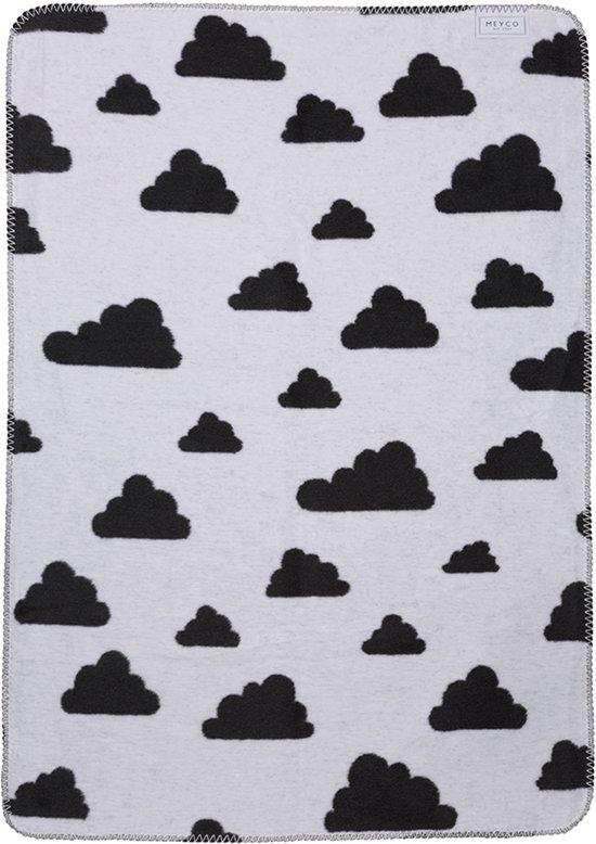 Meyco Little Clouds ledikantdeken - 120 x 150 cm - zwart
