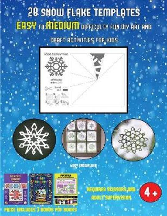 Easy Snowflake (28 snowflake templates - easy to medium difficulty level fun DIY art and craft activities for kids)